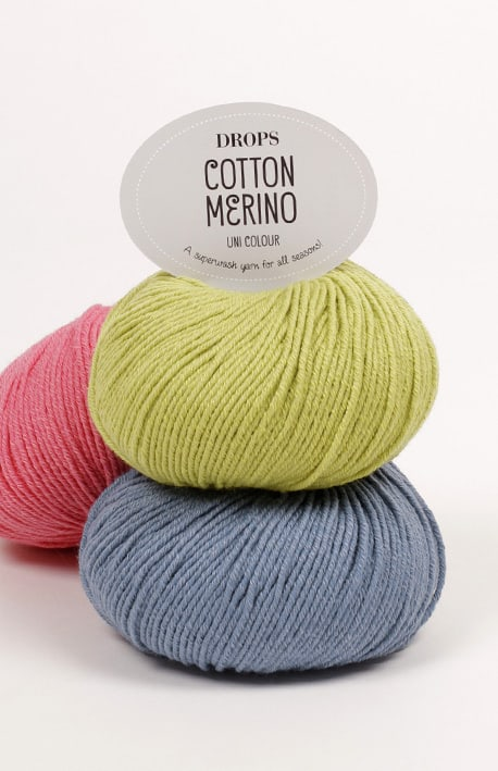Drops Cotton merino uni color