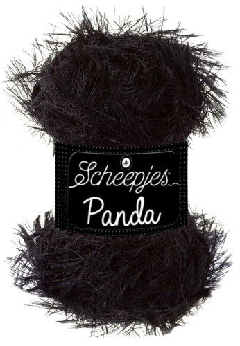 Scheepjeswol Panda 585 zwart black bear