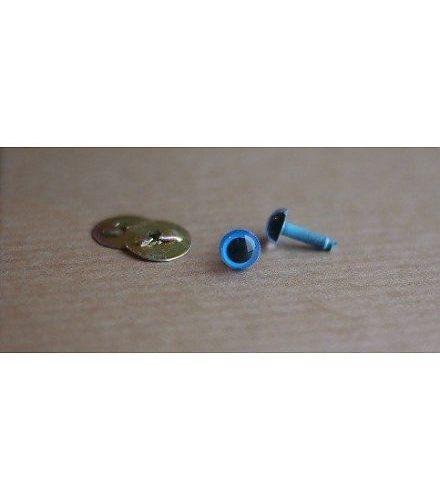 veiligheidsogen zwart/blauw 8 mm (2stuks)